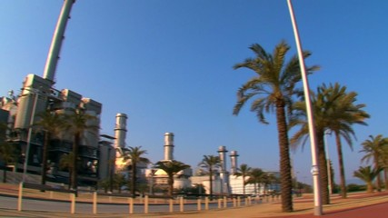 Recycling  Incineration Plant Near the Sea