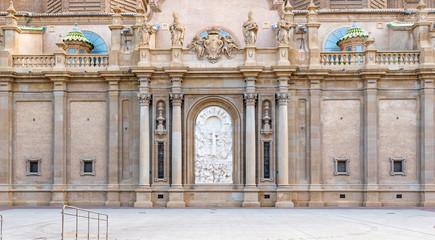 Close up of Basilica Pilar in Zaragoza , Spain.