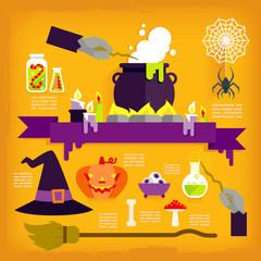 Infographics of halloween