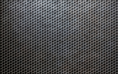 grunge metallic grid or grille background