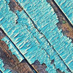 Peeling paint on wood background.
