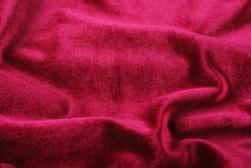 softness red folded velvet background