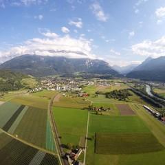 Aerial View - Bex, Switzerland - 250m