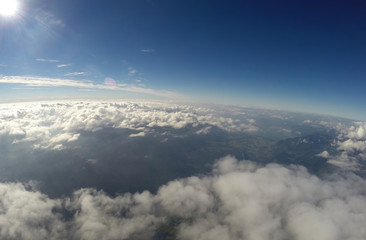 Aerial View - Clouds and Blue Sky - 4500m