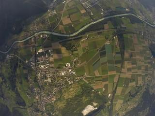 Aerial View - Bex, Switzerland - 1500m