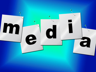 Media Word Means Radios News And Radio