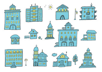 Hand Drawn Buildings