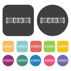 Balconies icons. Balconie set. Round and rectangle colourful 12