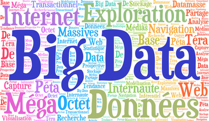 Big Data nuage de mots