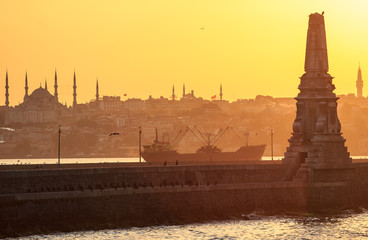 Amazing view of Istanbul at sunset