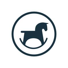 horse toy circle background icon.