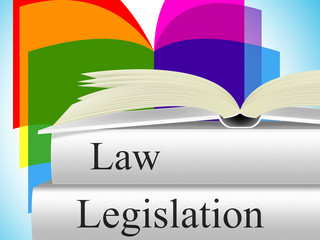 Legislation Law Represents Legality Crime And Juridical