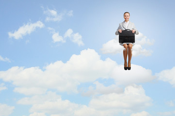 Woman on cloud