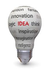 Light Bulb and Idea Concept - 3D