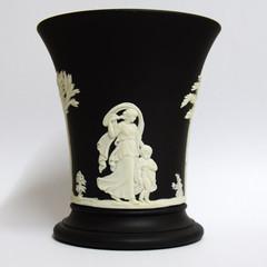 Jasperware Black Vase
