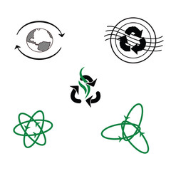Logo for recycled products