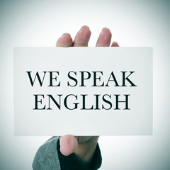 we speak english