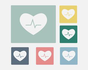 Pulse Heart Icon Symbol