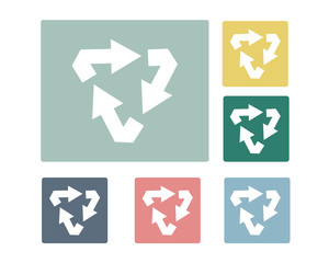 Basic Recycle Icon Symbol