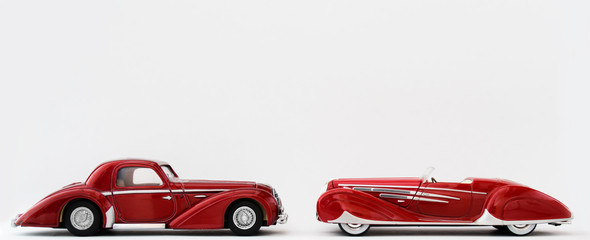 Classic Red Retro Sports Cars