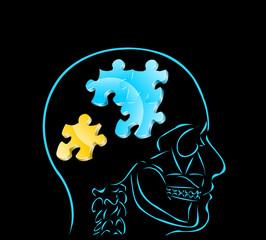 myśl i 4 elementy układanki