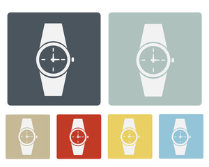 Wrist Watch Icon Symbol Vector Set