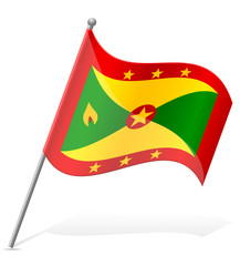 flag of Grenada vector illustration