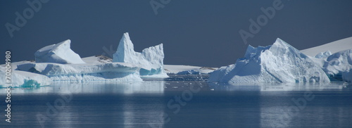 In de dag Poolcirkel Icebergs in Antarctica