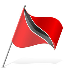 flag of Trinidad and Tobago vector illustration
