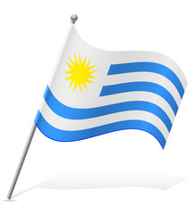 flag of Uruguay vector illustration