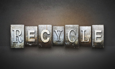 Recycle Letterpress Concept