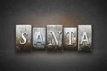 Santa Letterpress Concept