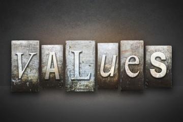 Values Letterpress