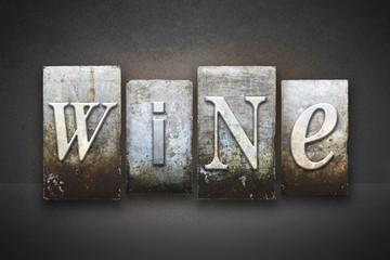 Wine Letterpress