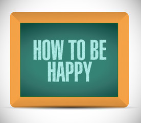 how to be happy message illustration design