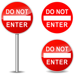 Vector do not enter signs