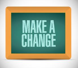 make a change sign illustration design