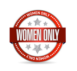 women only seal illustration design