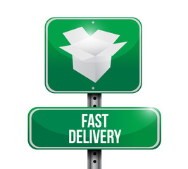 fast delivery sign illustration design