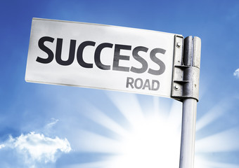 Success written on the road sign