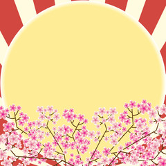 Pink flower and sun texture background