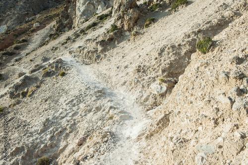canvas print picture Wanderweg bei Loutro an der Südküste von Kreta