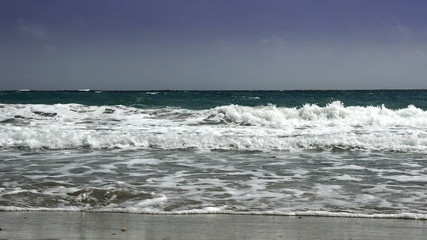 beautiful waves in beach