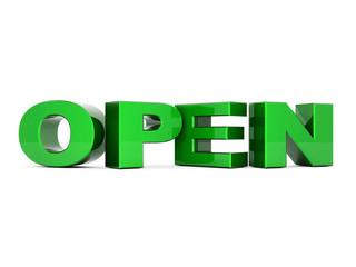 word open