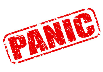 Panic red stamp text