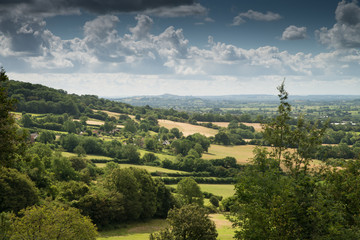 View towards Glastonbury Tor from Cheddar, England