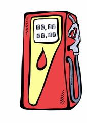 doodle gasoline pump