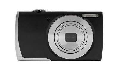 Digital camera isolated on white background