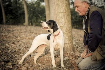 Cane da tartufo con il suo padrone