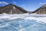 Rocks of Olkhon Island on Baikal Lake